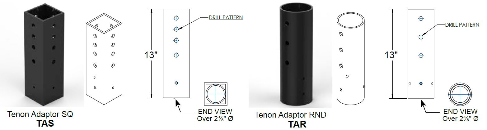 adaptors_TEN_dimensions