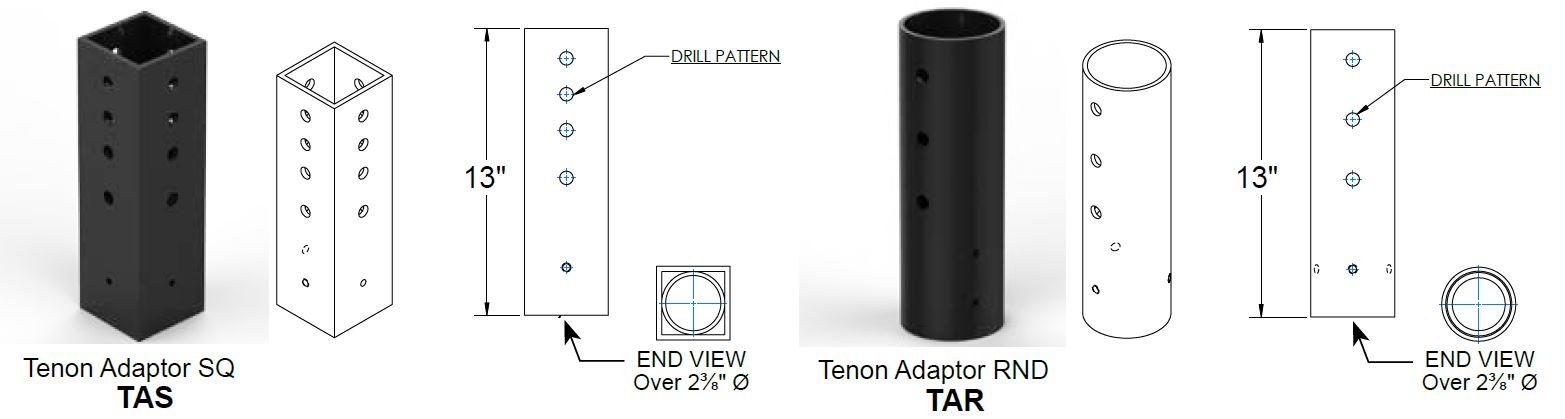 adaptors_TEN_dimensions